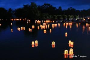 湖水まつり(灯ろう流し)