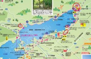 ミズバショウ群生地マップ(私有地含む)