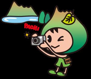 ①ポロトくん撮影中