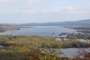↑日暮山山頂展望台から。(2017.10.19)