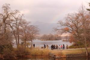 ↑駒ヶ岳のビュースポット。ちょうど虹がかかっていました♪