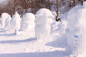 ↑ミニ雪像も皆さまをお待ちしております!