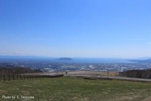 ↑城岱牧場展望台からの眺め(2016年4月27日撮影)
