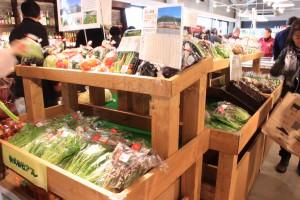 ↑野菜販売ブース