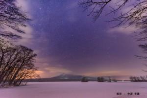 2月中澤様 雪原の星