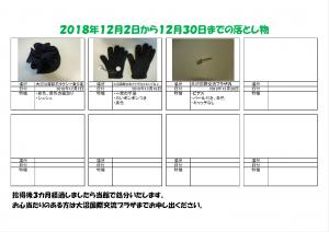 落し物表2018.12.2-12.30