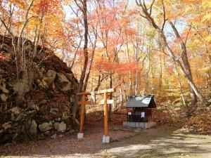 紅葉 駒ケ岳神社1